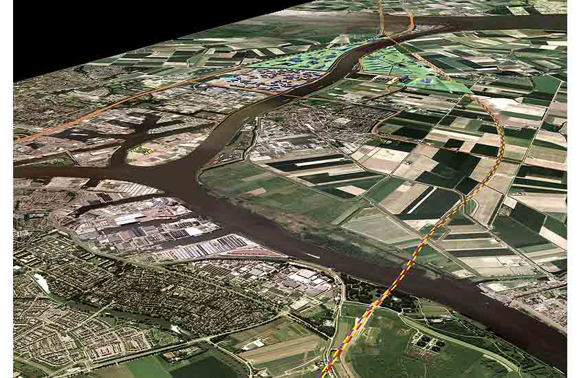 Shipping Valley, retro-active polders, container hub, logistic interface, logistic landscape