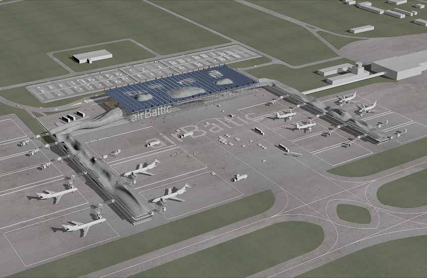 Riga Air Baltic Terminal, airport design, air terminal design