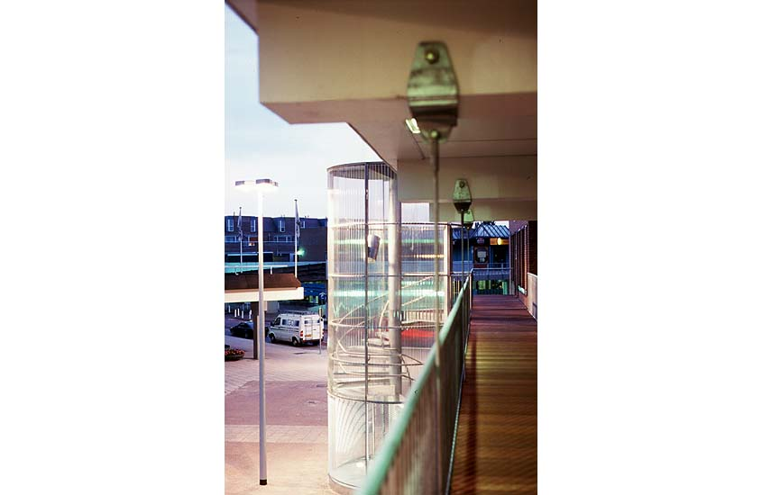 Lelystad centrum, trap tubes, public stairs