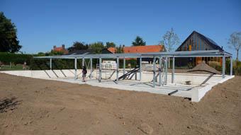 Field pavilion steel work